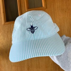 Striped hat with a bee, lily grace brand